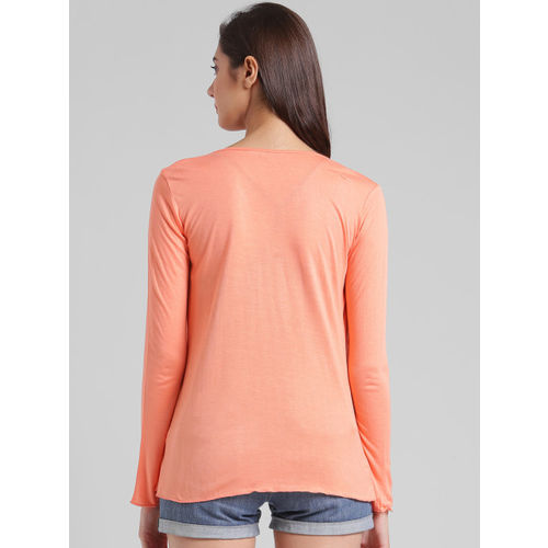 Trend Arrest Orange Solid Open Front Shrug