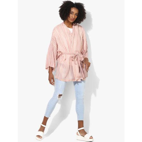 Vero Moda Pink Striped Shrug