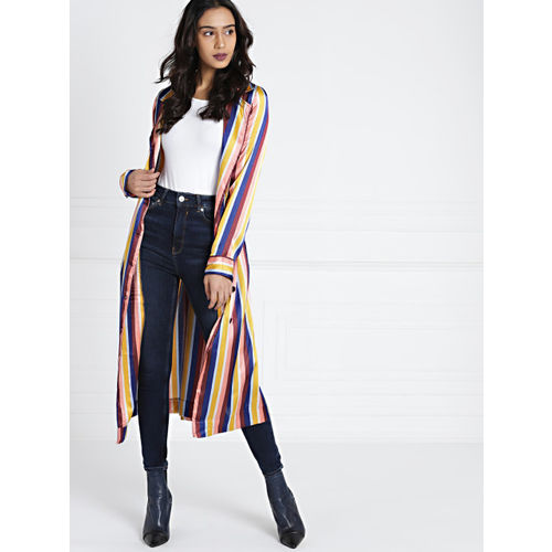 all about you from Deepika Padukone Multicoloured Striped Tie-Up Shrug