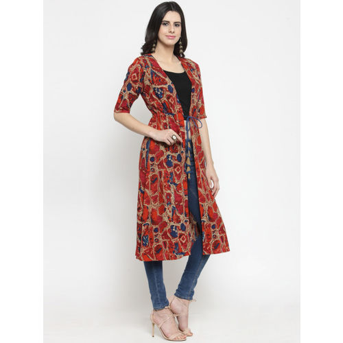 Indibelle Women Multicoloured Printed Shrug