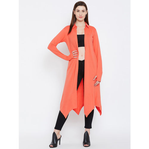 Hypernation Orange Solid Open Front Shrug