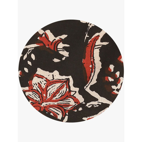 Sangria Shirt Collar Reversible Circular Kalamkari Print Shrugs With 3/4Th Cuff Sleeves