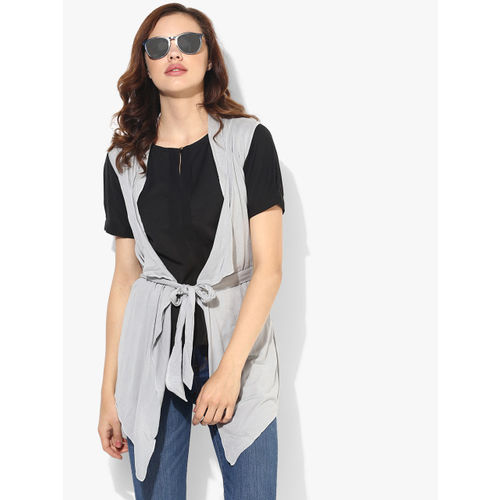 Style Quotient Grey Solid Shrug