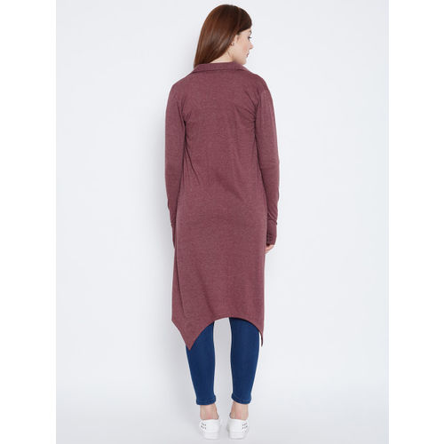 Hypernation Mauve Solid Open Front Shrug