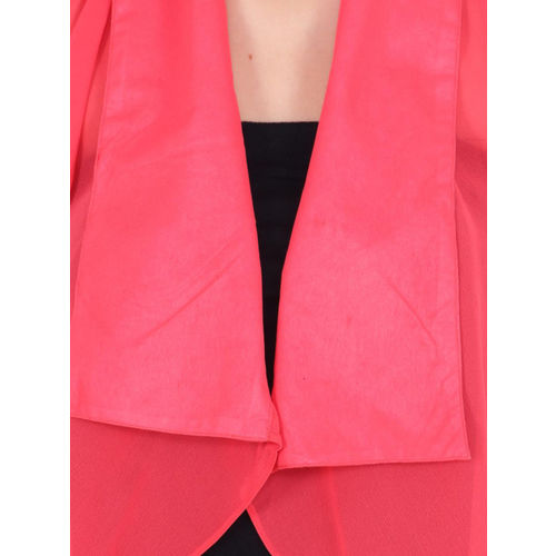 Cation Coral Solid Open Front Shrug
