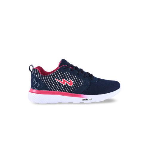 Campus Women Blue Mesh Running Shoes