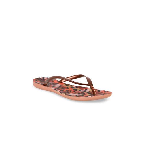 iPanema Women Brown Printed Thong Flip-Flops