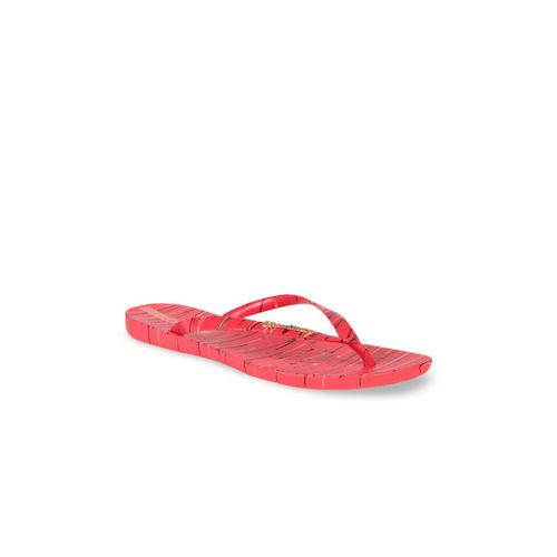 iPanema Women Coral Pink Printed Thong Flip-Flops