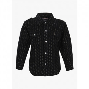 Gini and Jony Black Regular Fit Casual Shirt