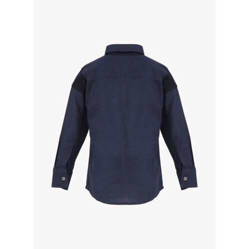 Gini and Jony Navy Blue Regular Fit Casual Shirt