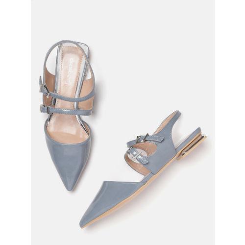 DressBerry Women Blue Solid Flats