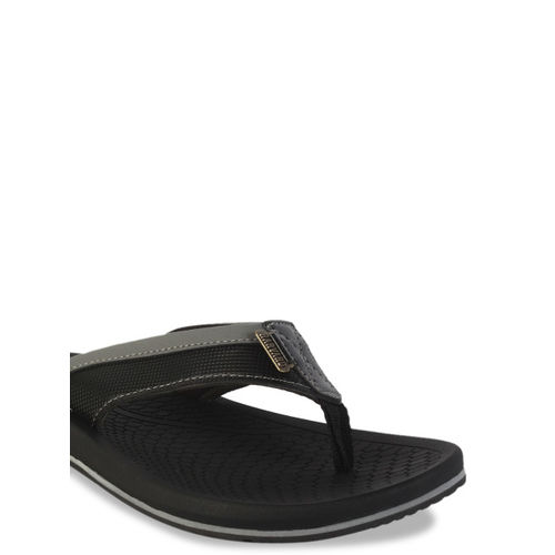 Harvard Men Black Solid Thong Flip-Flops