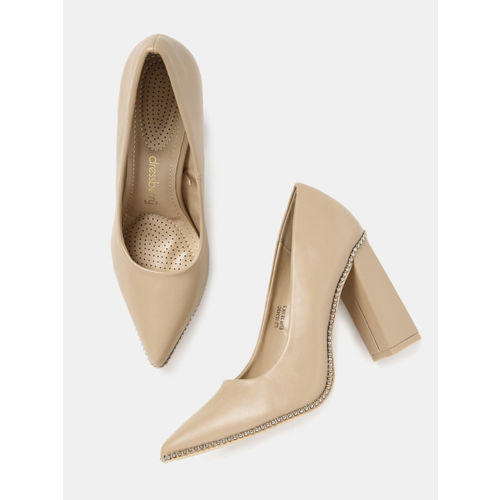 DressBerry Women skin -Coloured Solid Pumps