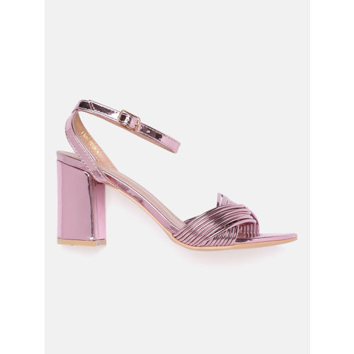 DressBerry Women Pink Heeled Sandals