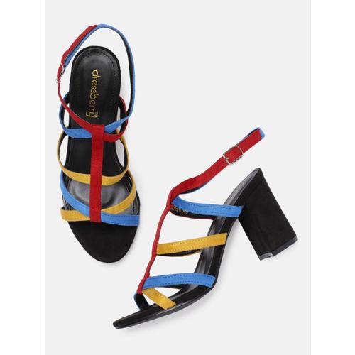 DressBerry Women Multicoloured Colourblocked Sandals