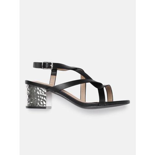 DressBerry Women Black Solid Sandals