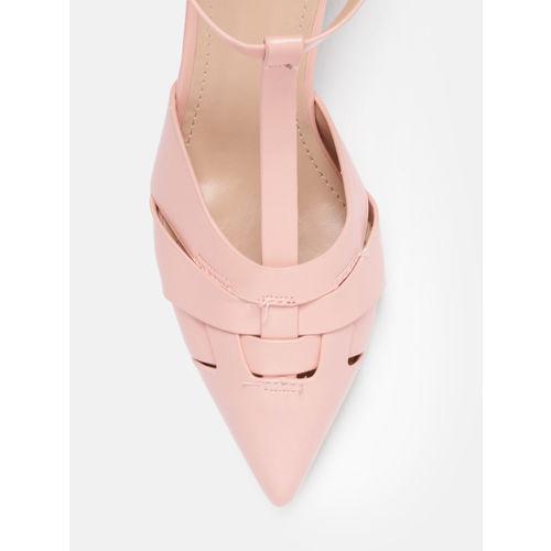DressBerry Women Pink Solid Sandals