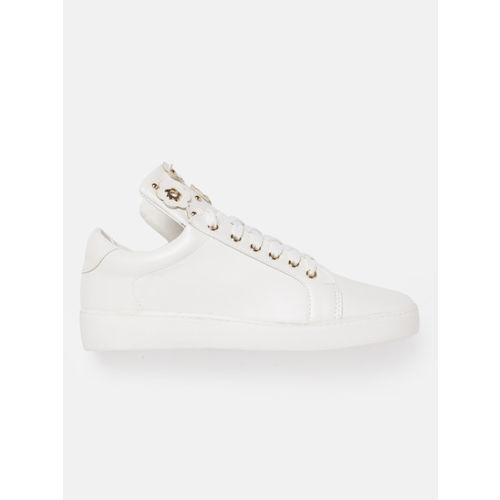 DressBerry Women White Embellished Sneakers