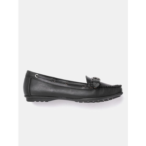 DressBerry Women Black Loafers