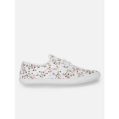 DressBerry Women Off-White Printed Sneakers
