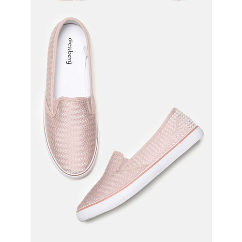 DressBerry Women skin -Coloured Slip-On Sneakers