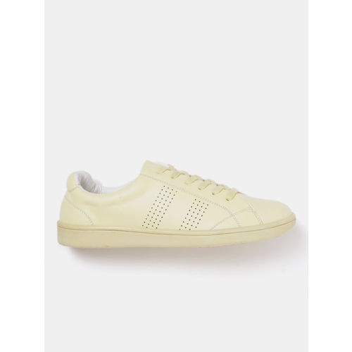 DressBerry Women Yellow Perforated Sneakers