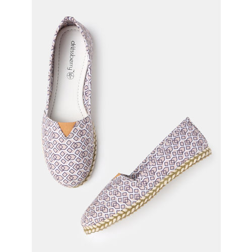 DressBerry Women White Printed Espadrilles