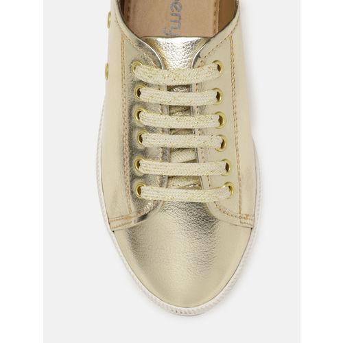 DressBerry Women Gold-Toned Sneakers