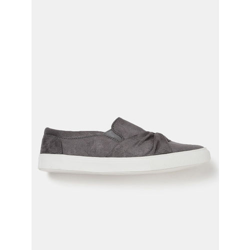 DressBerry Women Grey Slip-On Sneakers