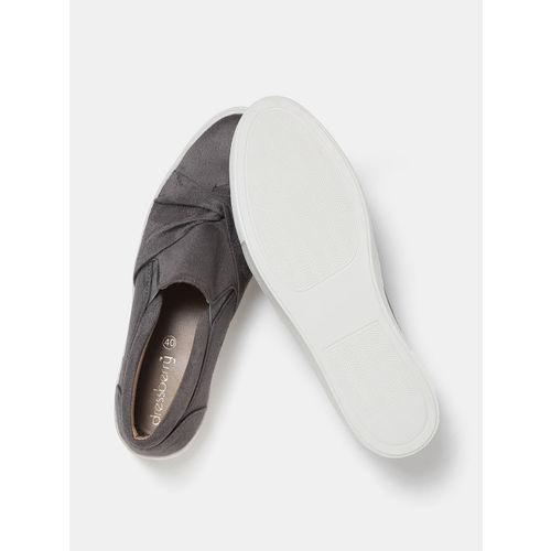 DressBerry Women Grey Slip-On Sneakers