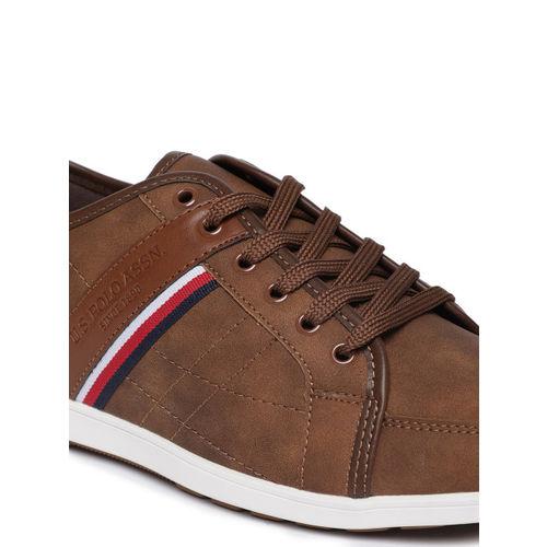 U.S. Polo Assn. Men GASOL Brown Sneakers