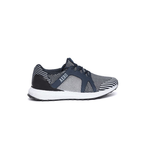 Aeropostale Men Navy Blue & White Woven Design Sneakers