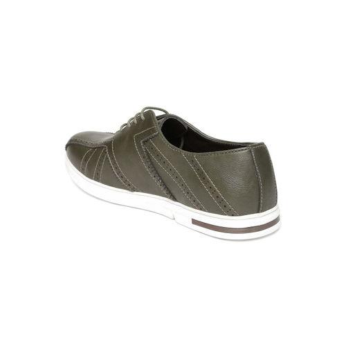 Duke Men Olive Green Sneakers