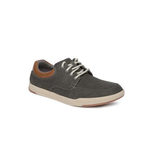 Clarks Men Olive Green Sneakers