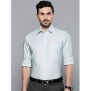 Louis Philippe Off-White Cotton Classic Regular Fit Formal Shirt