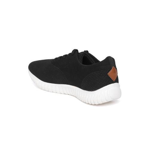 Aeropostale Men Black Perforated Sneakers