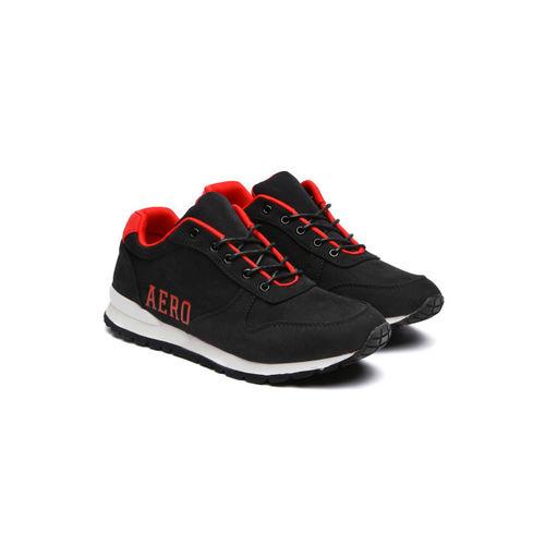 Aeropostale Men Black Suede Linn Sneakers