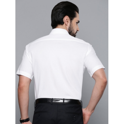 Louis Philippe White Cotton Classic Regular Fit Formal Shirt
