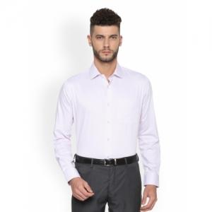 Van Heusen Lavender Slim Fit Self Design Formal Shirt