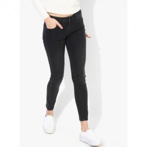 Pepe Jeans Black Jeggings Super Skinny Fit Mid-Rise Clean Look Jeans