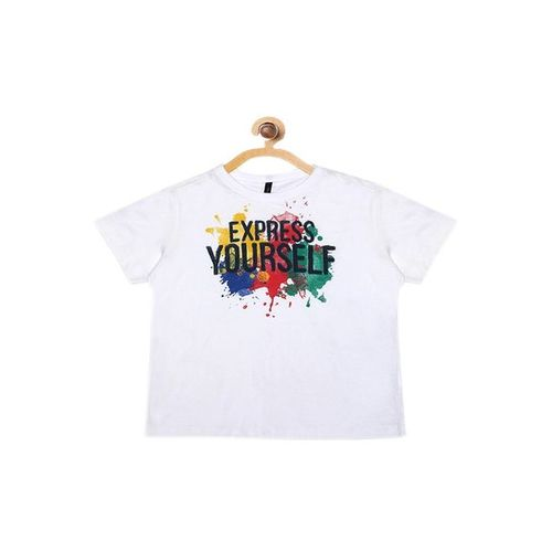 United Colors of Benetton Kids White Printed T-Shirt