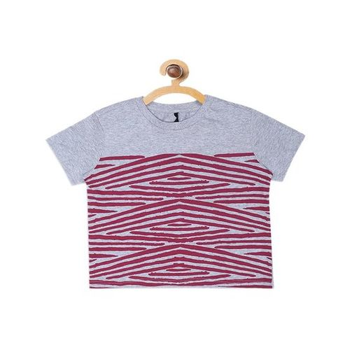 United Colors of Benetton Kids Grey Striped T-Shirt