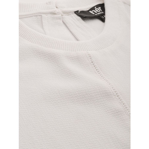 her by invictus Women White Solid Smart Casual Regular Top