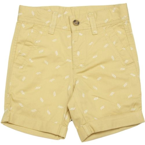 United Colors of Benetton Short For Boys Casual Printed Cotton Blend(Beige, Pack of 1)