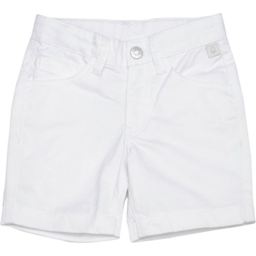 United Colors of Benetton Short For Boys Casual Solid Cotton Blend(White, Pack of 1)