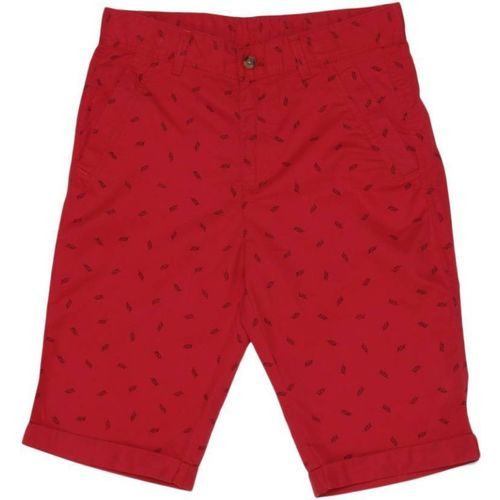 United Colors of Benetton Short For Boys Casual Printed Cotton Blend(Red, Pack of 1)