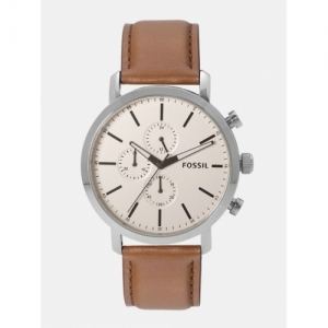 Fossil Men Cream-Coloured Chronograph Watch BQ2325_OR