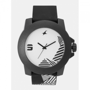 Fastrack Unisex White & Black Analogue Watch NG38021PP10C_OR