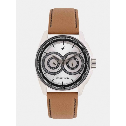 Fastrack Men Silver-Toned Analogue Watch NK3089SL07