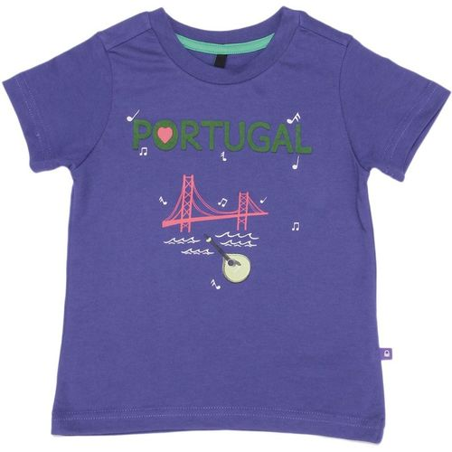 United Colors of Benetton Boys Solid Cotton Blend T Shirt(Purple, Pack of 1)